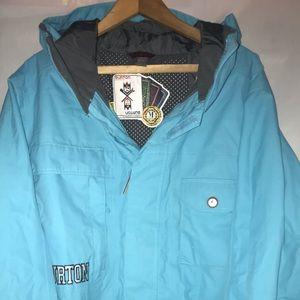 Burton Dryride Jacket Mens Sz medium turquoise
